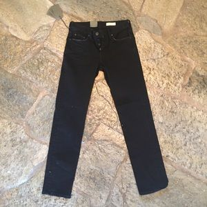 NEW All Saints REED Straight Black Jeans